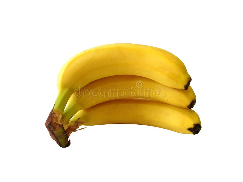Banana isolada no branco foto de stock royalty free