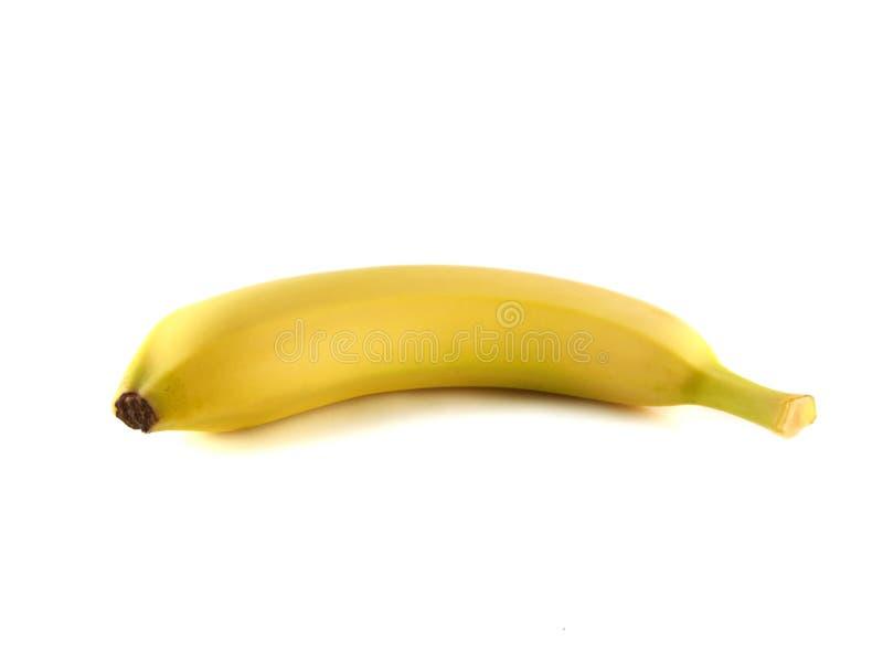 Banana isolada no fundo branco (maduro). fotos de stock royalty free