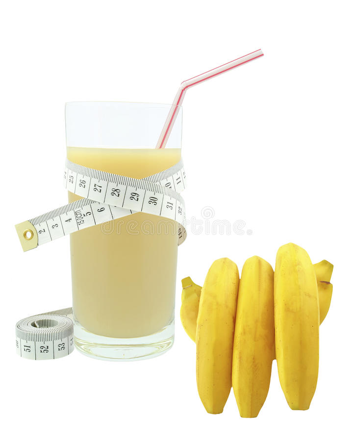Download Banana juice and meter stock photo. Image of health, lifestyle - 33199002
