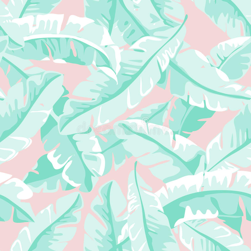 Banana leaves royalty free illustration