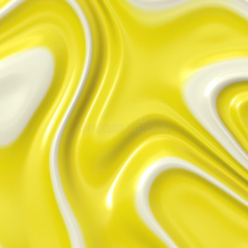 Banana or Lemon Cream Whit Whipped stock image