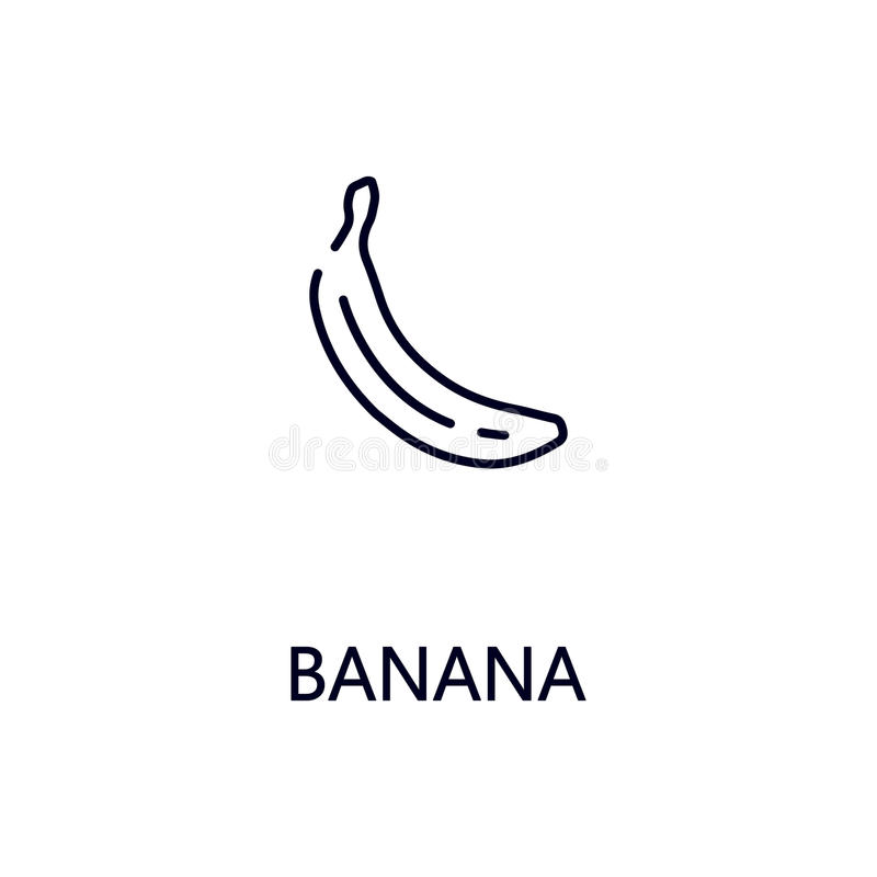 Banana line icon stock illustration