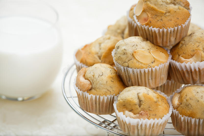 Banana muffin stock photos