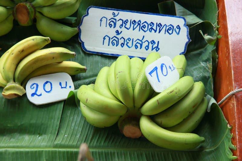 Banana na folha da banana fotografia de stock