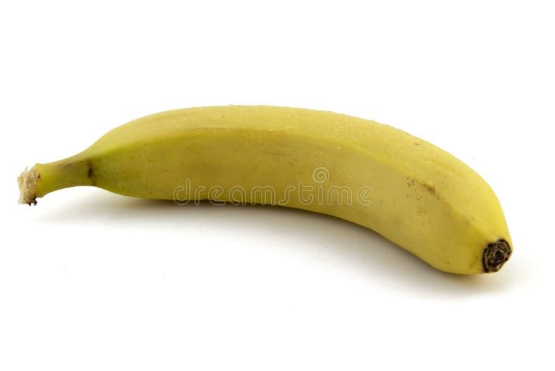 Banana na foto branca do fundo Imagem bonita, vagabundos imagens de stock royalty free