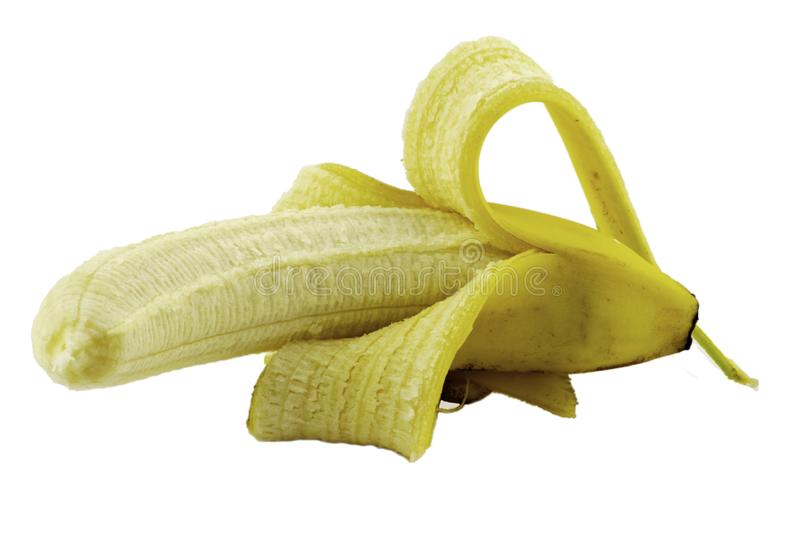 Banana no branco foto de stock royalty free