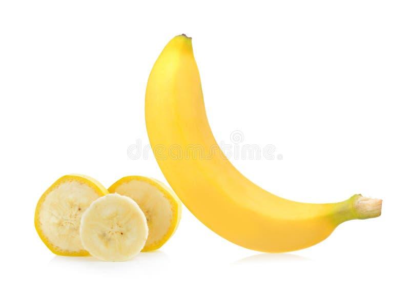 Banana no fundo branco fotografia de stock royalty free