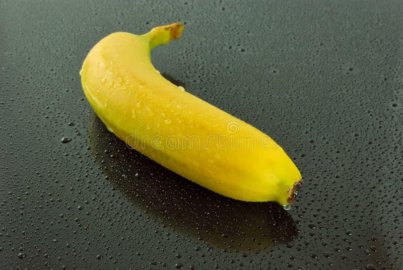 Banana no fundo preto fotos de stock royalty free