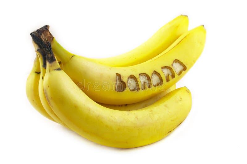 Banana nomeada fotografia de stock royalty free