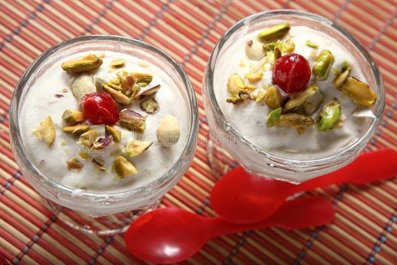 Banana ice cream stock photography