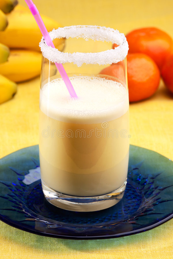 Banana Orange Smoothie royalty free stock photography