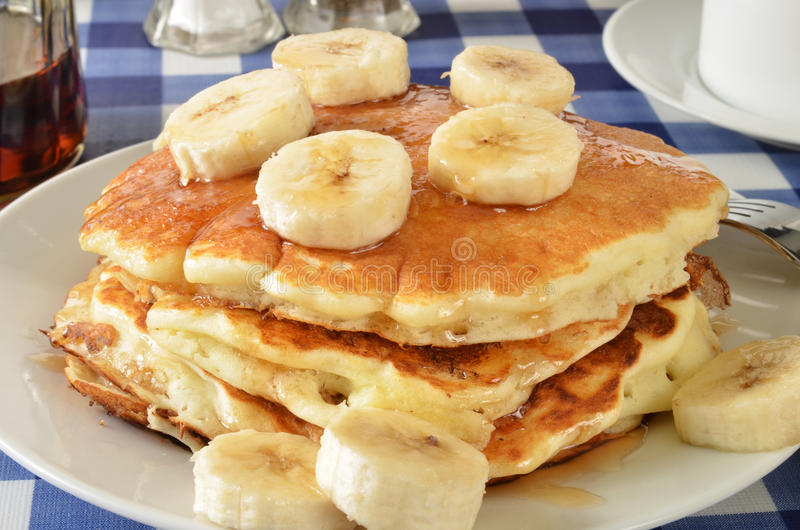 Banana pancakes royalty free stock images