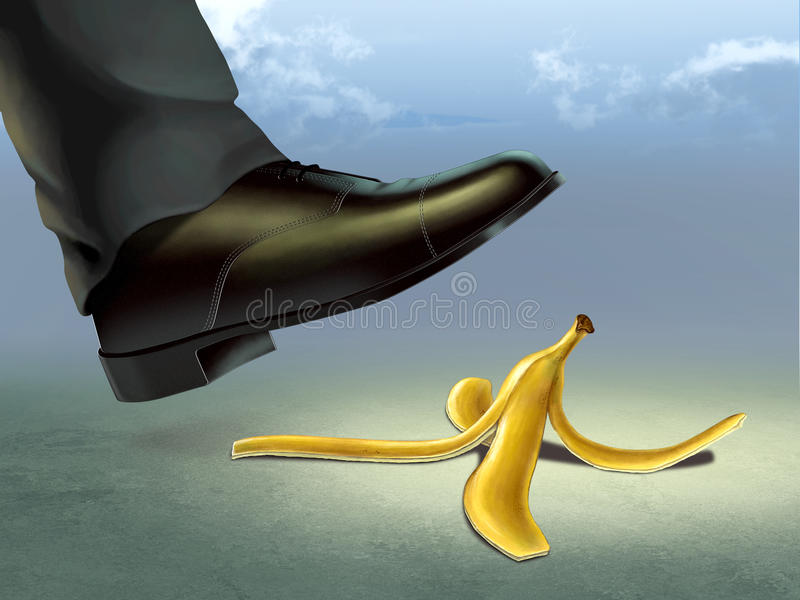 Banana peel royalty free illustration