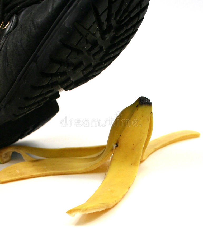 Free Banana Peel Slipping Stock Photos - 588533