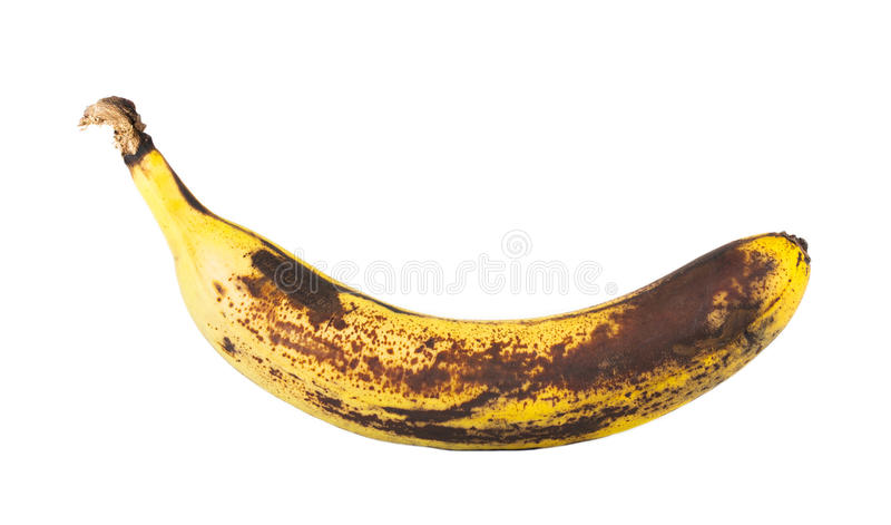Banana podre foto de stock royalty free