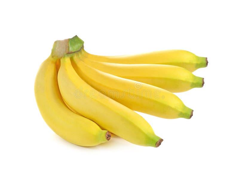 banana pojedynczy bia?e t?o zdjęcia stock