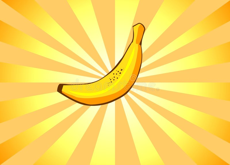Banana radiante illustrazione di stock