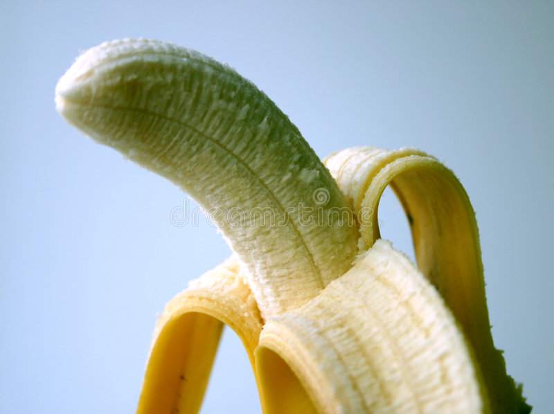 Banana Sbucciata Immagini Stock