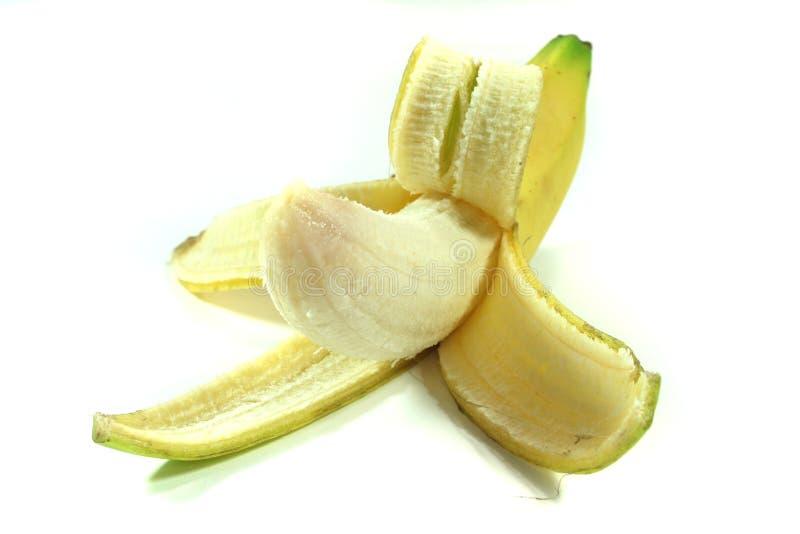 Banana sbucciata immagine stock libera da diritti