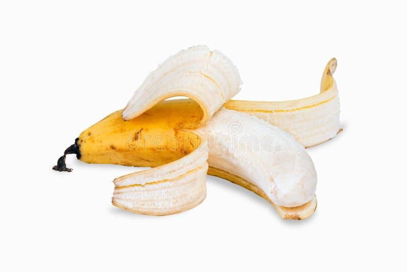 Banana sbucciata fotografia stock