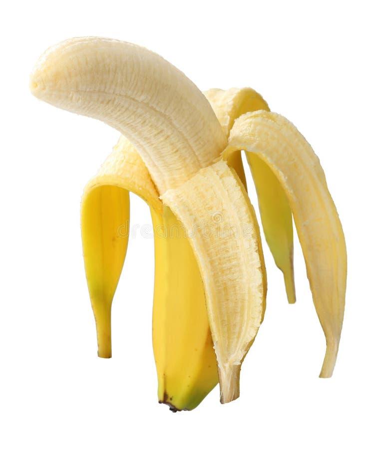 Banana sbucciata fotografia stock libera da diritti