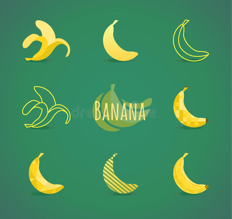 Banana sign vector illustration