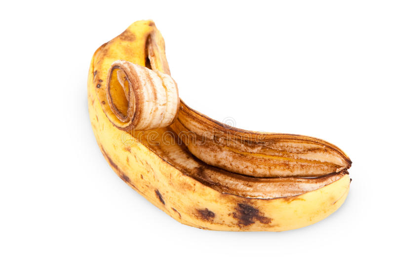 Download Banana skin stock photo. Image of isolated, background - 23732062