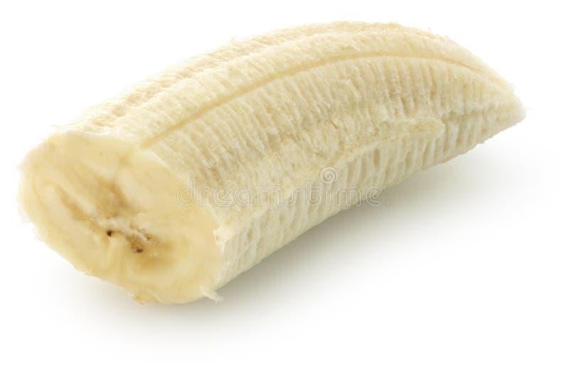 Banana slice isolated on the white background royalty free stock photo