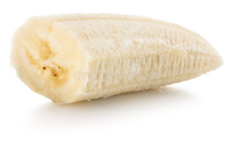 Banana slice isolated on the white background royalty free stock photography