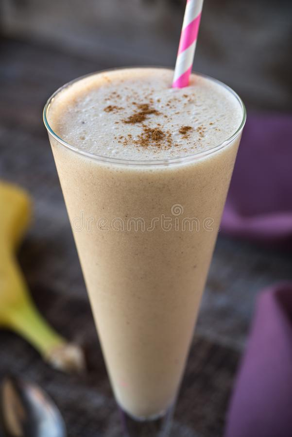 Banana Smoothie with Winter Spices royalty free stock image