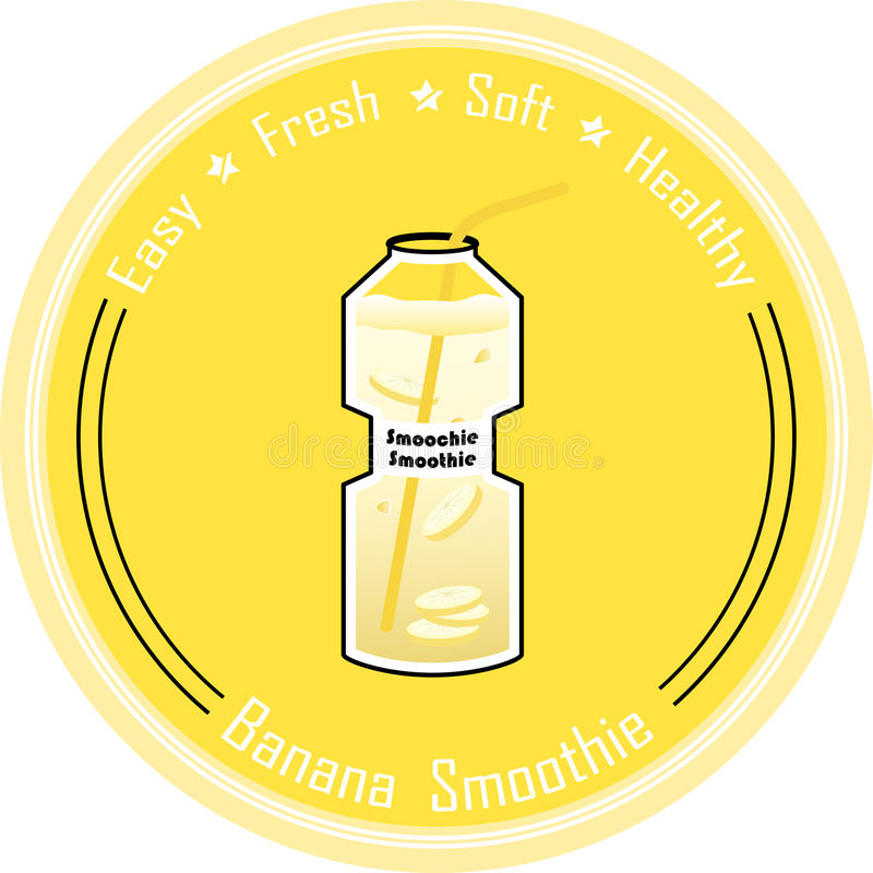 Banana smoothie vector illustration