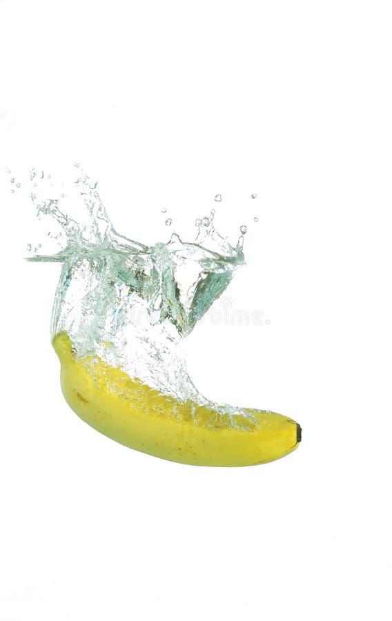Banana Splash royalty free stock photo