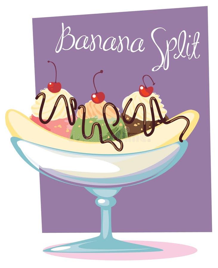 Banana split vector illustration