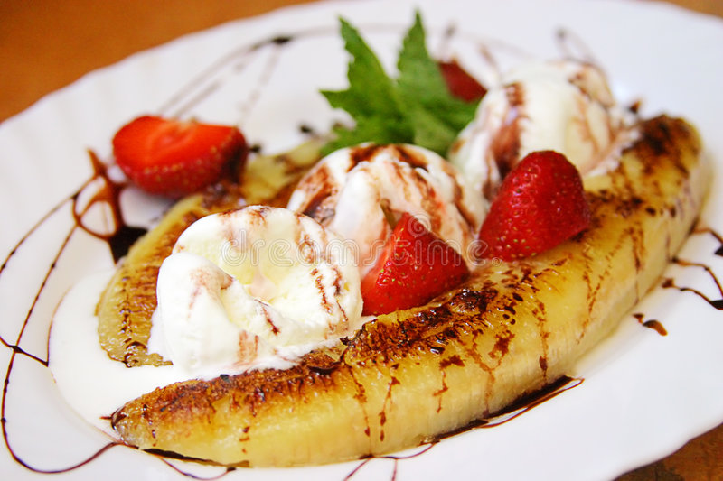 Banana Split. ) royalty free stock images