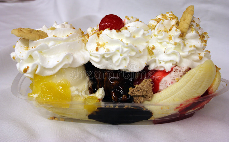 Banana Split stock image
