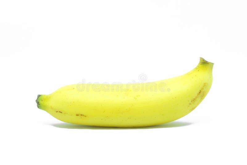 Banana su priorità bassa bianca fotografia stock