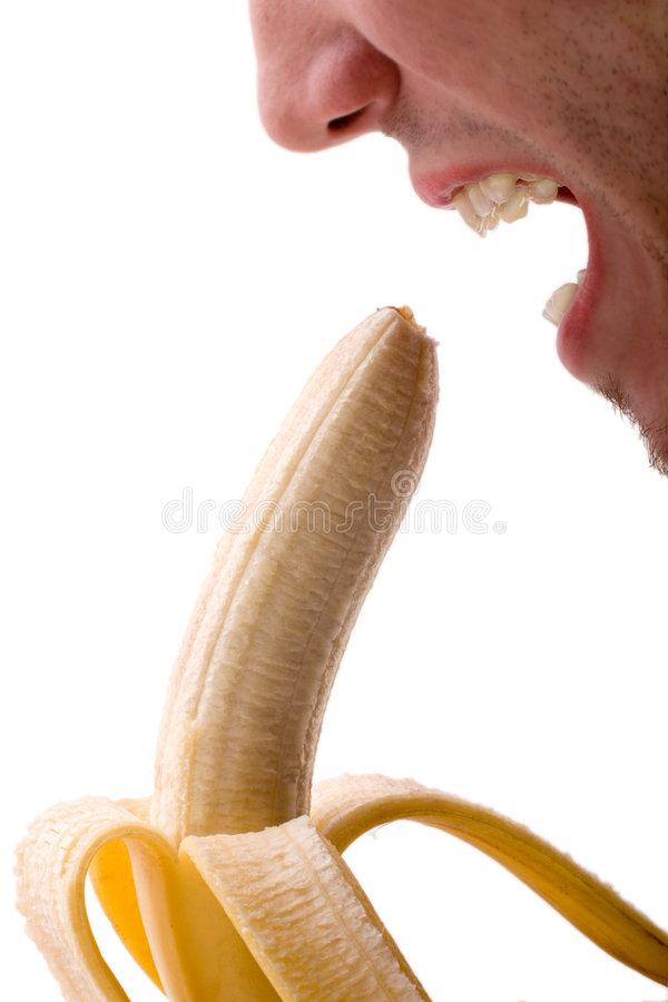 Banana-teste fotografia de stock royalty free
