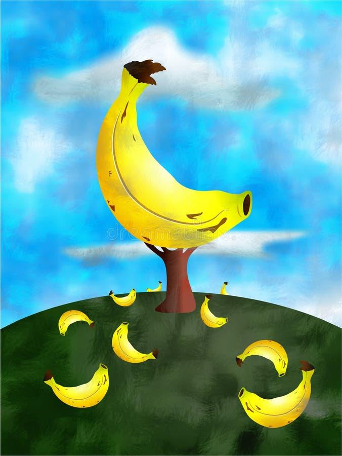 Banana tree stock illustration