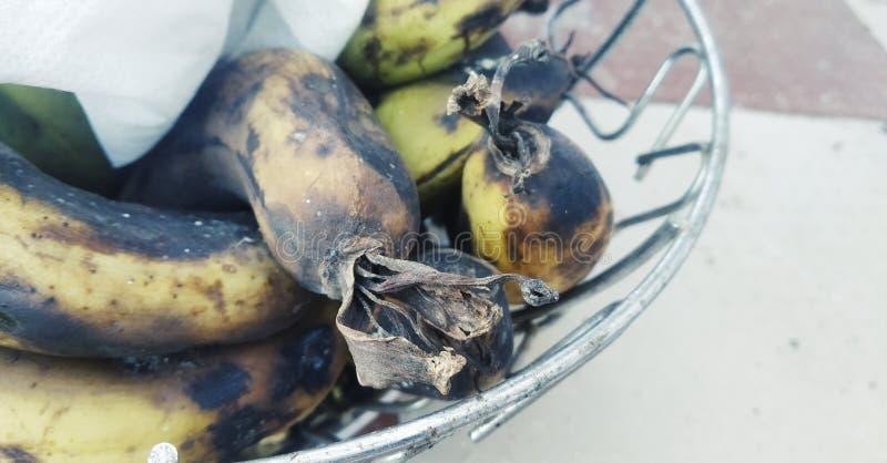 Banana in un contenitore immagini stock libere da diritti