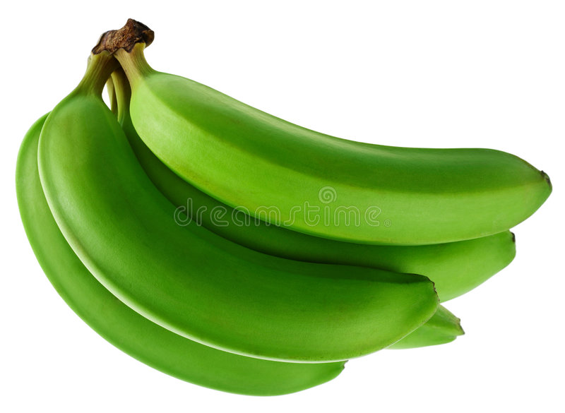 Banana verde immagine stock