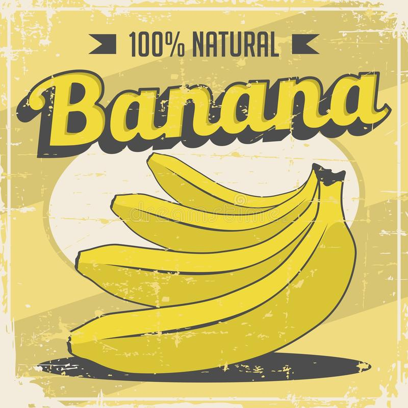 Banana Vintage Retro Signage Vector. Graphic Design royalty free illustration
