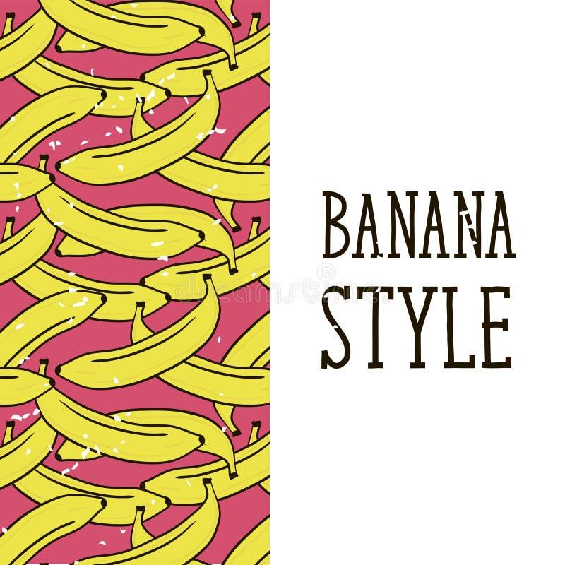 Banana wektoru menchii ilustraci Stylowy wz?r ilustracja wektor