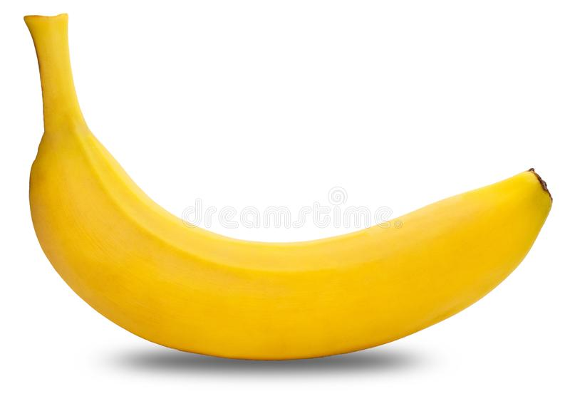 Banana on a white background stock images