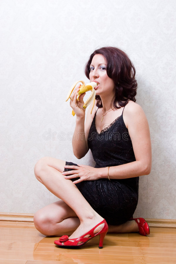 banana woman στοκ εικόνα