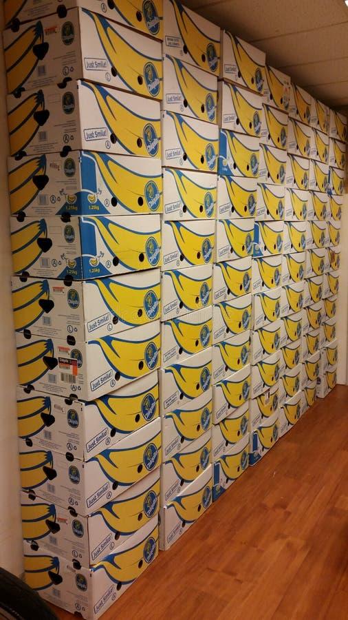 bananabox muur royalty-vrije stock fotografie