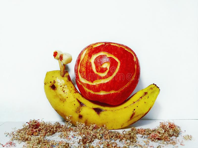 Bananapllepenna royaltyfri foto
