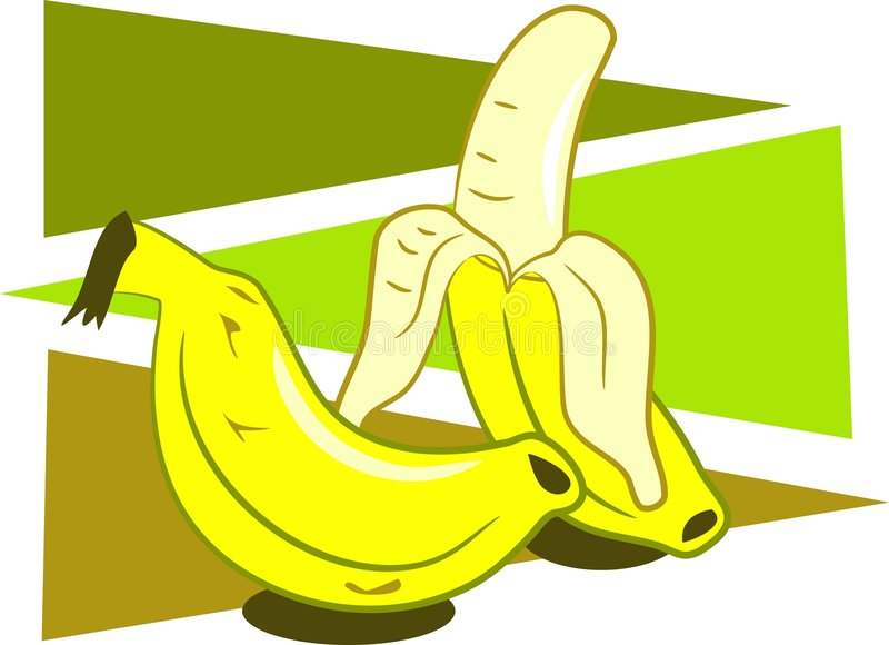 Bananas royalty free illustration