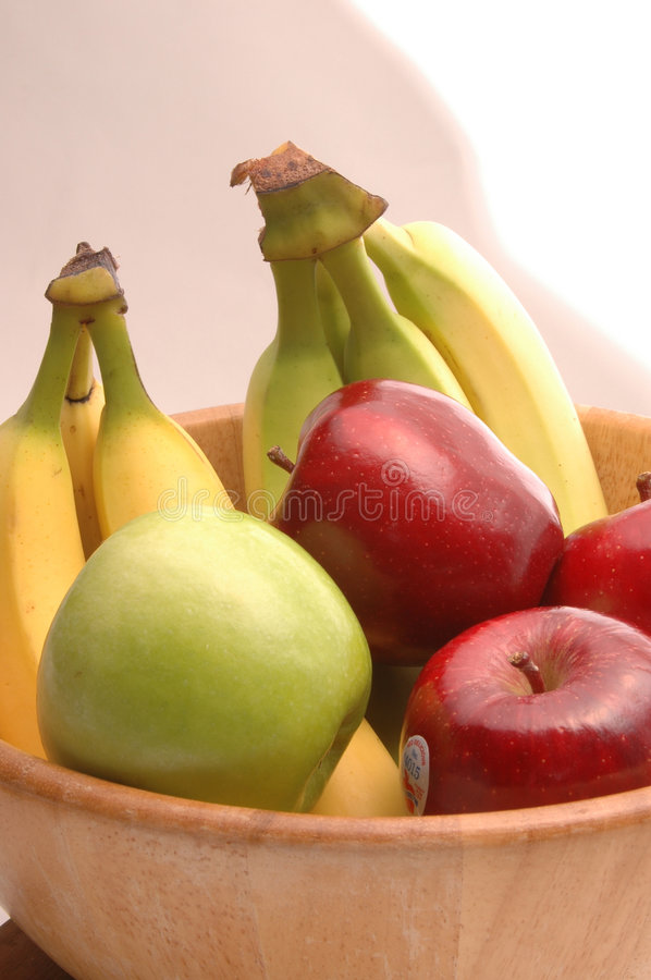 Bananas apples green red 1