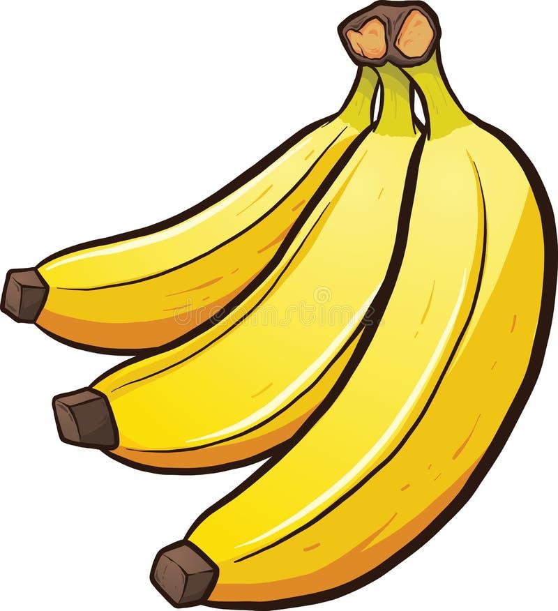 Bananas dos desenhos animados ilustração royalty free