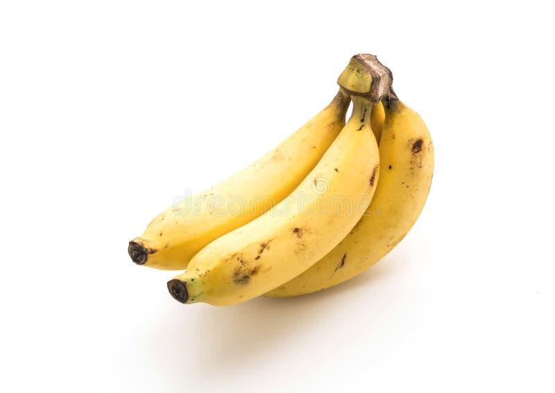 Bananas frescas no branco foto de stock royalty free